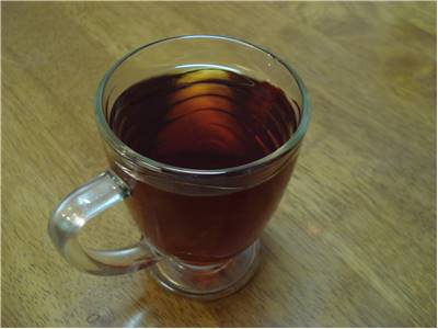 Caffeine content in black tea cup