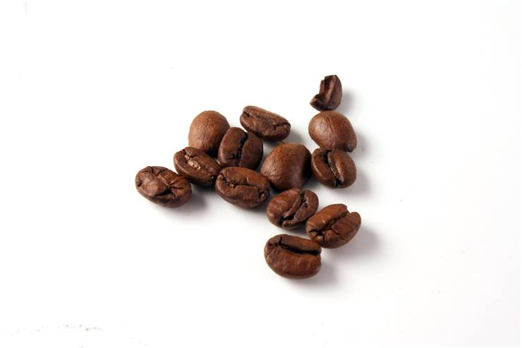 Caffeine from coffee beans